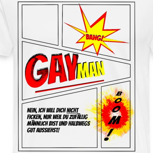 GayMan Comic - Männer Premium T-Shirt