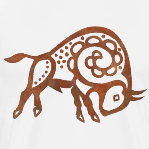 Prehistoric Bison - Men's Premium T-Shirt