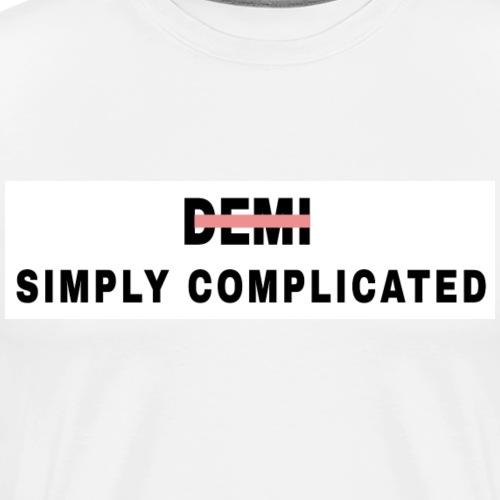 Simply Complicated white - Men's Premium T-Shirt