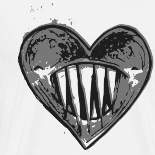 Corazón Negro - Camiseta premium hombre