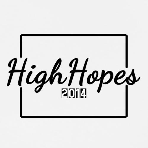 HighHopes - Schwarzes Logo - Männer Premium T-Shirt