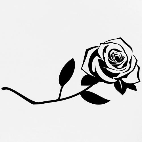 Rose - Schwarz - Männer Premium T-Shirt