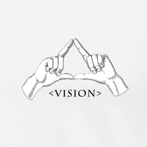 Hand Vision Black - Men's Premium T-Shirt
