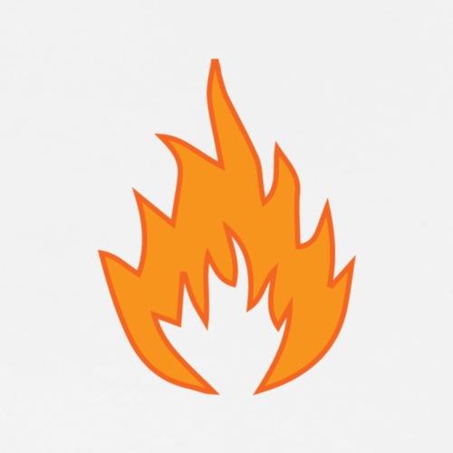 Flame WHITE - T-shirt Premium Homme