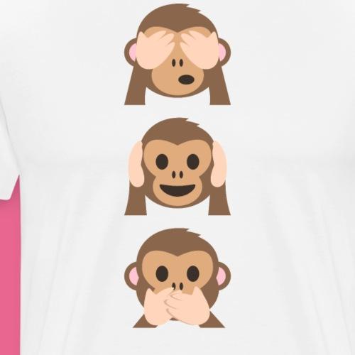 Edición limitada de Monkey Emoji - Camiseta premium hombre