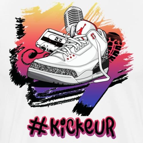 #Kickeur Noir - T-shirt Premium Homme