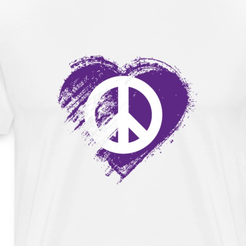 Grungy I Love Peace Heart Flag - Men's Premium T-Shirt