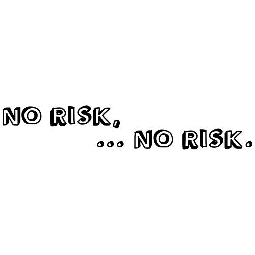 No risk - no risk. (Motivfarbe änderbar!) - Männer Premium T-Shirt