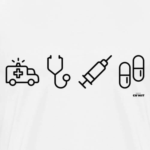 Infirmier (noir) - T-shirt Premium Homme