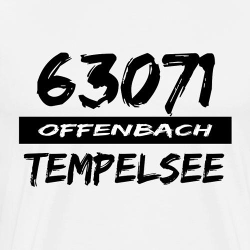 63071 Offenbach Tempelsee - Männer Premium T-Shirt