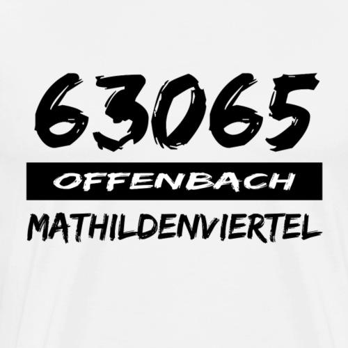 63065 Offenbach Mathildenviertel - Männer Premium T-Shirt