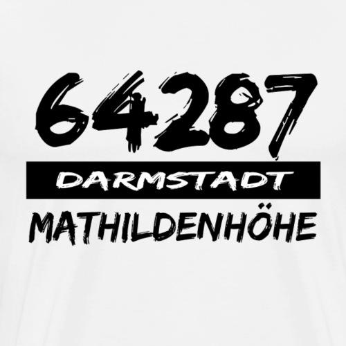64287 Mathildenhöhe Darmstadt tshirt hessen - Männer Premium T-Shirt