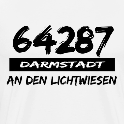 64287 An den Lichtwiesen Darmstadt tshirt hessen - Männer Premium T-Shirt