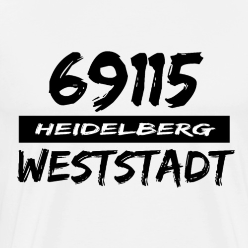 69115 Heidelberg Weststadt - Männer Premium T-Shirt