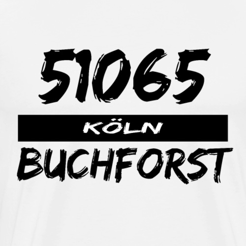 51065 Köln Buchforst - Männer Premium T-Shirt