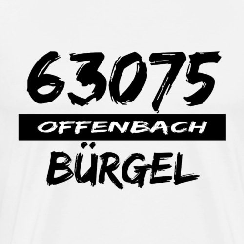 63075 Offenbach Bürgel - Männer Premium T-Shirt