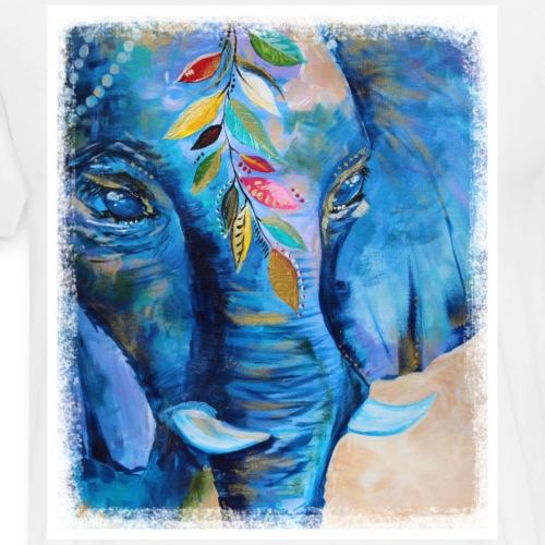 Elefant, Glücksbringer, Indien - Männer Premium T-Shirt