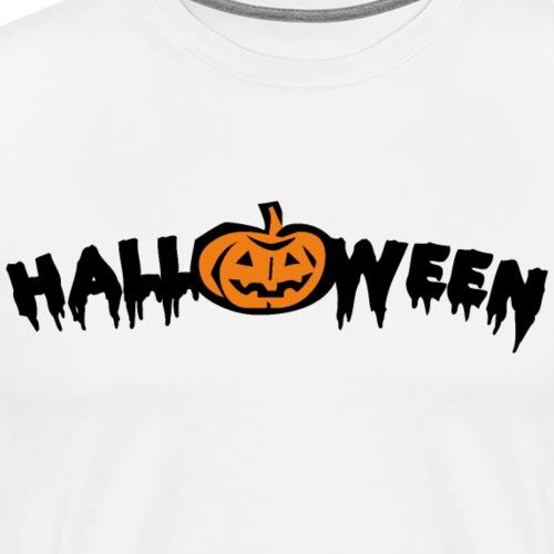 Halloween Schriftzug mit Kuerbis - Männer Premium T-Shirt