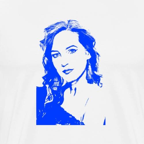 Frauenkopf - Eine reife und sympathische Lady - Männer Premium T-Shirt