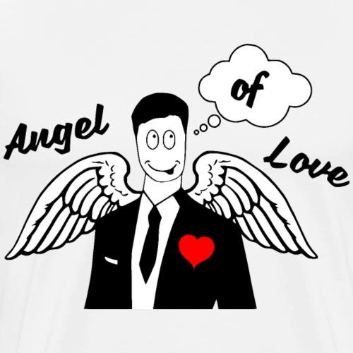 Angel of Love schwarz - Männer Premium T-Shirt