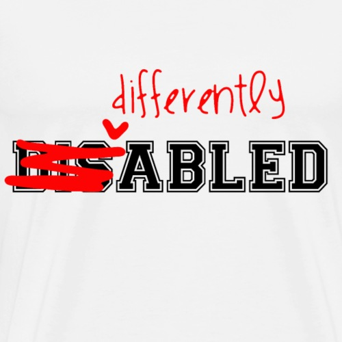 Differently Abled Black Red Logov3 - Men's Premium T-Shirt