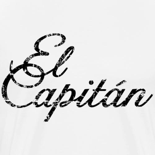 El Capitán Kapitän Segler Segel (Vintage/Schwarz) - Männer Premium T-Shirt