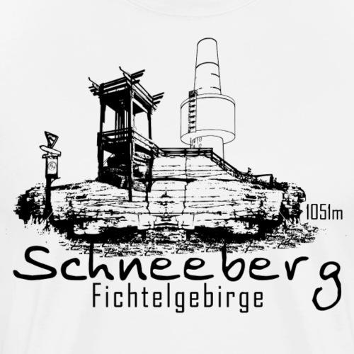 Schneeberg im Fichtelgebirge Fichtelhills - Männer Premium T-Shirt