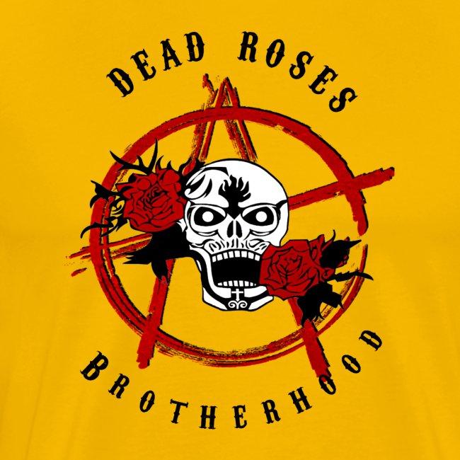 Dead Roses Anarchy Skull Black