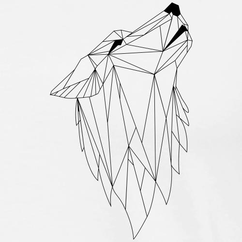 Geometrie Wolf - Männer Premium T-Shirt