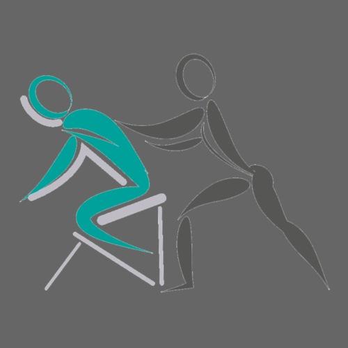 Massage Logo Wellness - Männer Premium T-Shirt