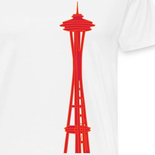 Space Needle in Seattle 2 - Männer Premium T-Shirt