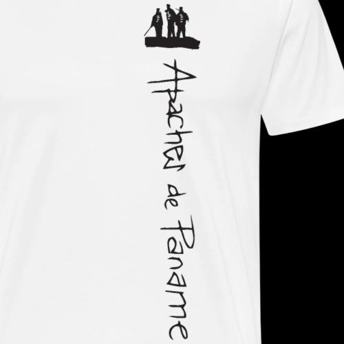 logo apaches vertical noir - T-shirt Premium Homme