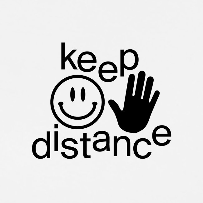keep distance Classic Tee white