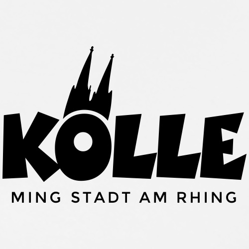 Kölle ming Stadt am Rhing Köln mit Kölner Dom - Männer Premium T-Shirt