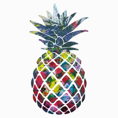 Bunte Ananas Design