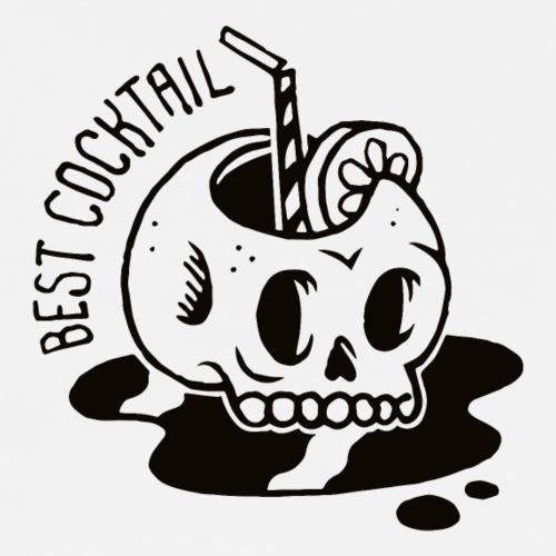 COCKTAIL Skull (Noir) - T-shirt Premium Homme