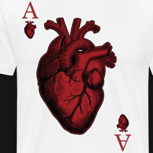 Ace of Hearts - Maglietta Premium da uomo