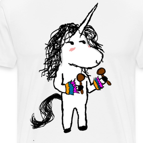 eenhoorn Dancer - Mannen Premium T-shirt