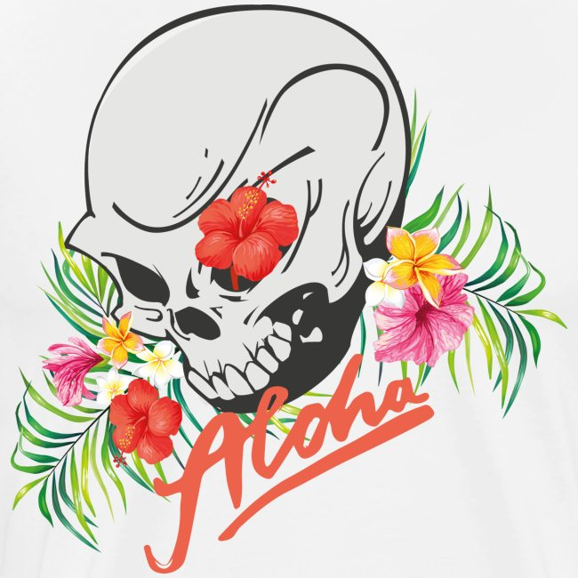Hawaiian Skull Aloha Surfer Design
