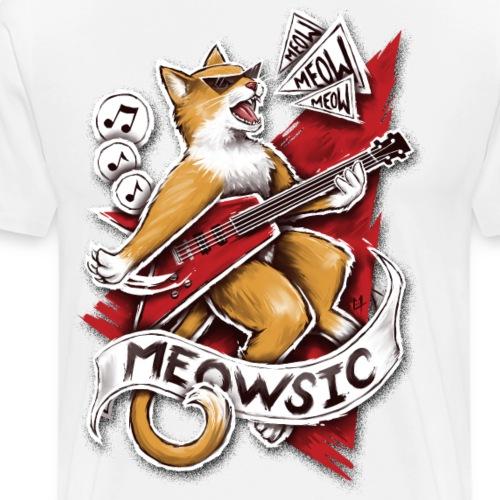 Meowsic - Men's Premium T-Shirt