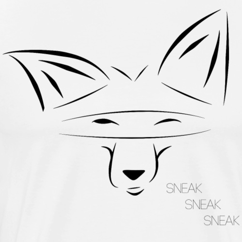 SneakyFox black - Men's Premium T-Shirt