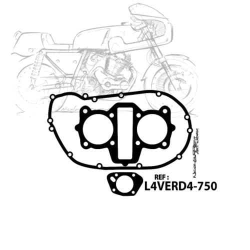 design T shirt L4VERD4 750 Black and White - T-shirt Premium Homme