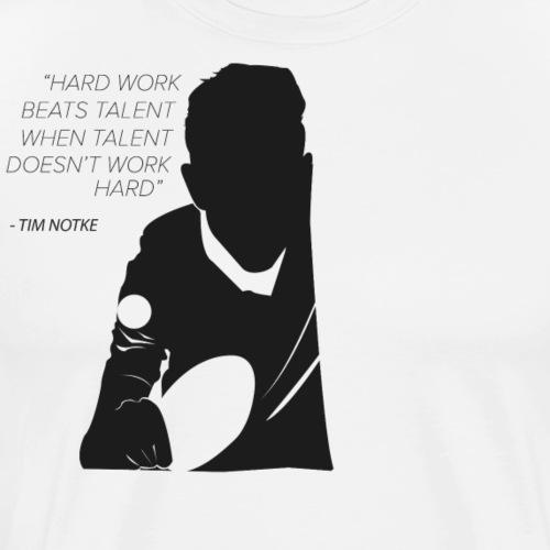 Tischtennis Design für Tischtennisbegeisterten Man - Männer Premium T-Shirt
