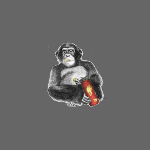 Monkey with Chips - Men's Premium T-Shirt