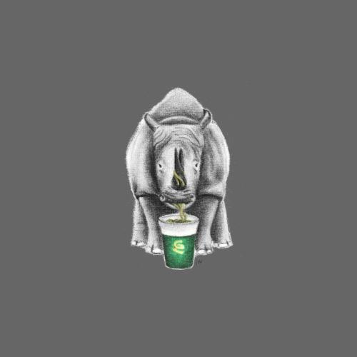 Rhino with Pot Noodles - Men's Premium T-Shirt