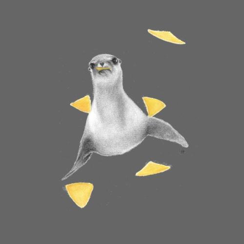 Seal with Nachos - Men's Premium T-Shirt