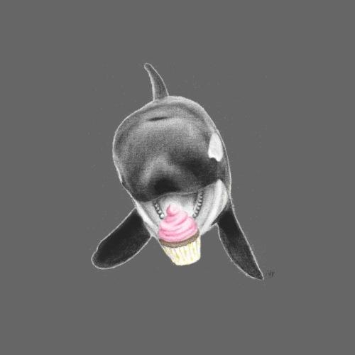 Whale with Cupcake - Men's Premium T-Shirt