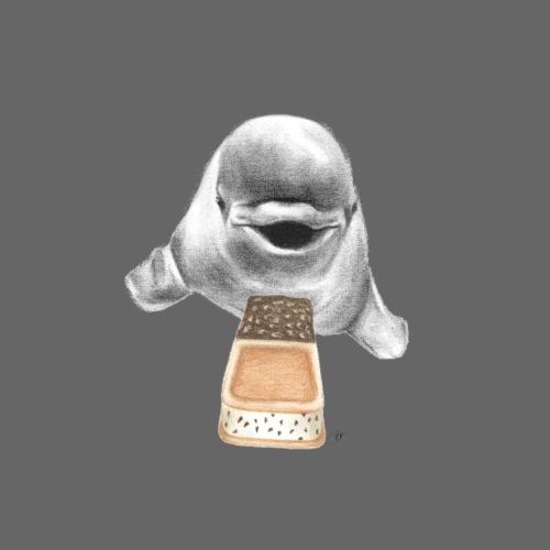 White Whale with Ice Cream Santwich - Men's Premium T-Shirt