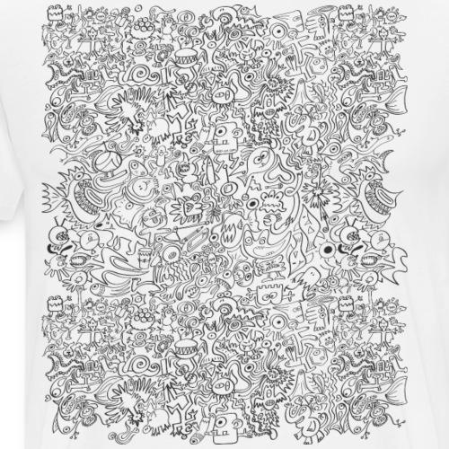 I can not stop this insane doodling - Men's Premium T-Shirt