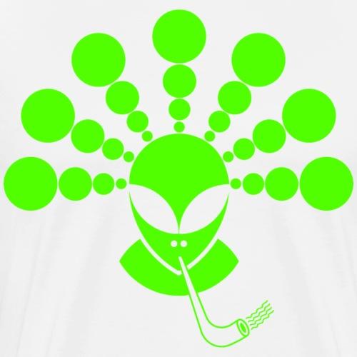 The Smoking Alien Green - Men's Premium T-Shirt